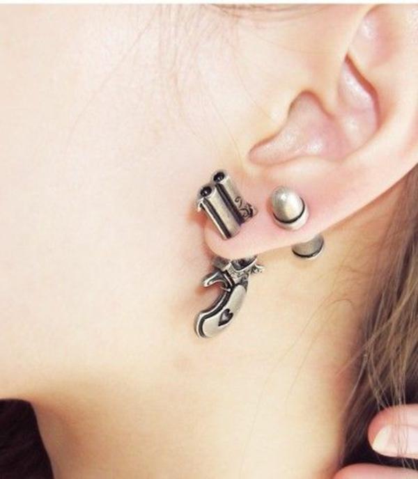 boucles-d'oreilles-originales-idée-creative-pistolet