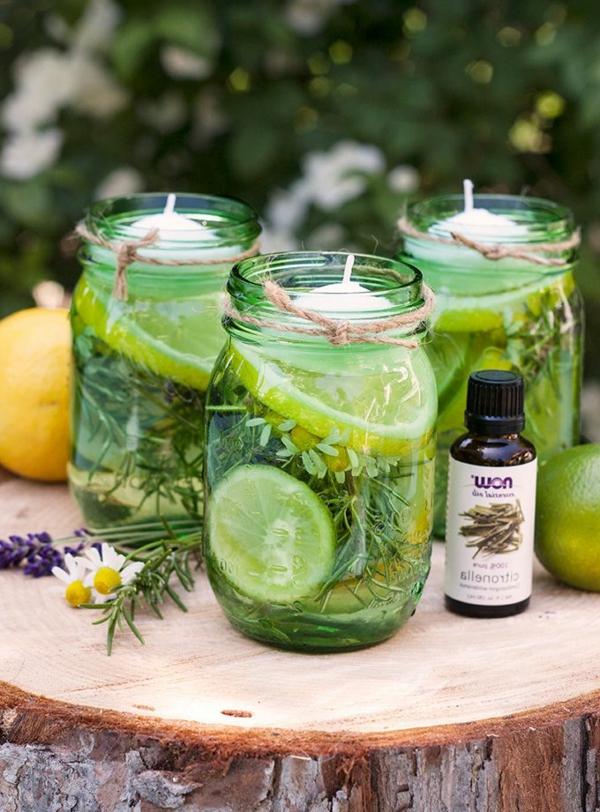 bougie-decorative-pots-avec-limons-vertes