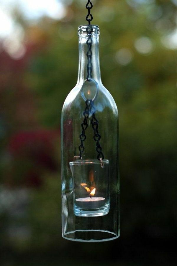 bougies-décoratives-bouteille-avec-une-bougie