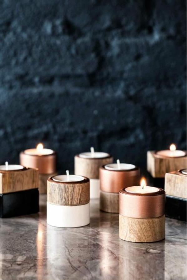bougies-décoratives-en-bois