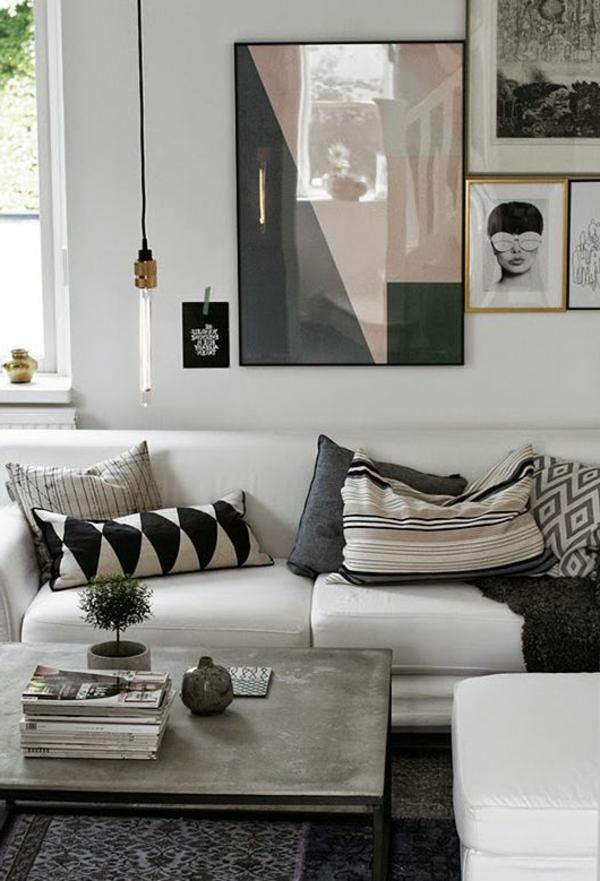 canapé-blanc-salon-classique