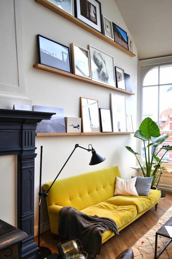 canapé-jaune-intérieur-rénover-sa-maison