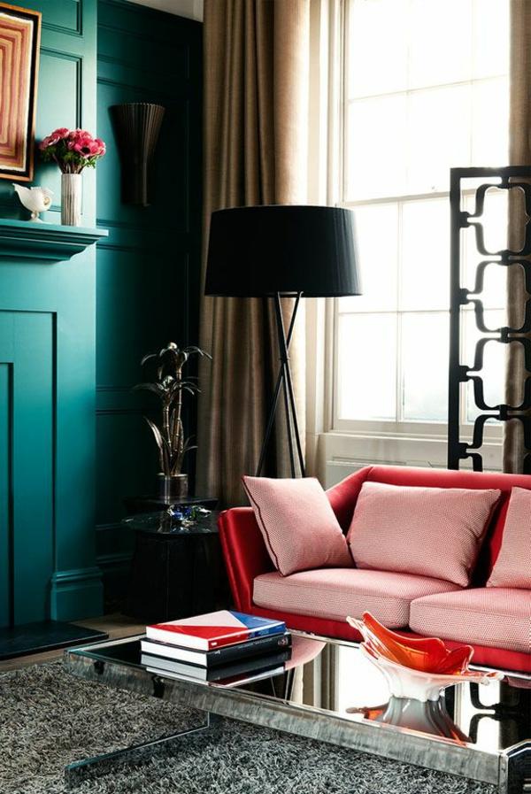 canapé-rouge-salon-moderne