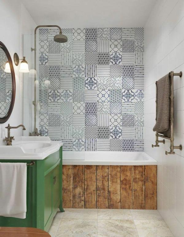 55 id es pour poser du carrelage mural chez soi for Poser du carrelage dans une salle de bain