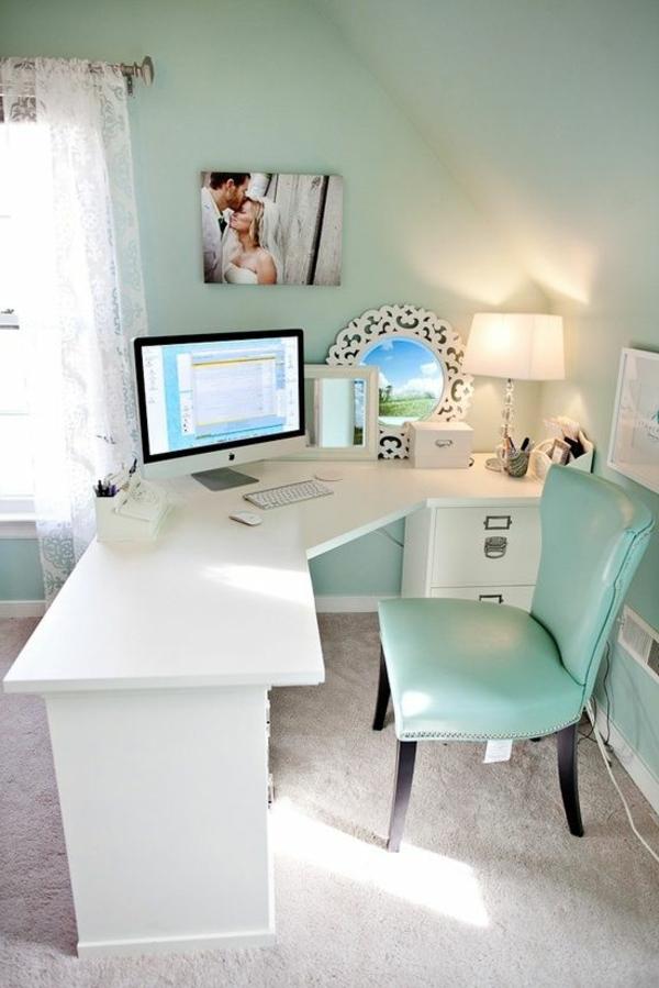 chaise-bureau-bleu-blanc-travail