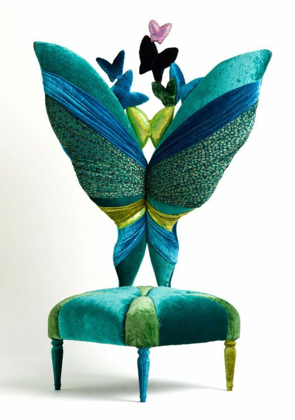 chaise-papillon-colorée