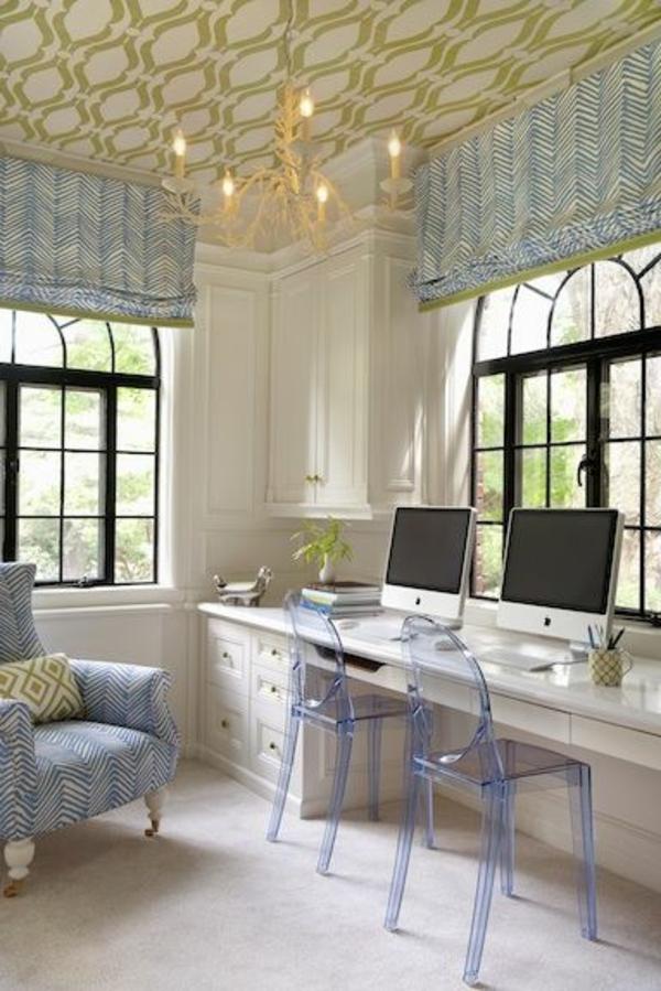 chaise-transparente-chambre-déco-vintage