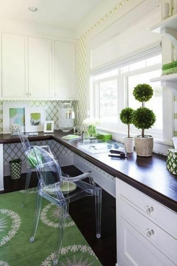 chaise-transparente-espaces-de-travail-à-la-maison