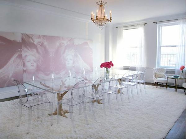 chaise-transparente-tapis-blanc-salle-de-déjeuner-exceptionnel