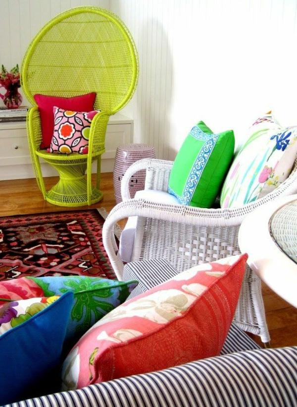chaise-tressée-chaises-tressées-remarquables-et-intérieur-coloré
