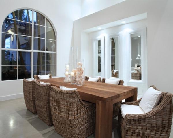 chaise-tressée-salle-à-manger-blanche