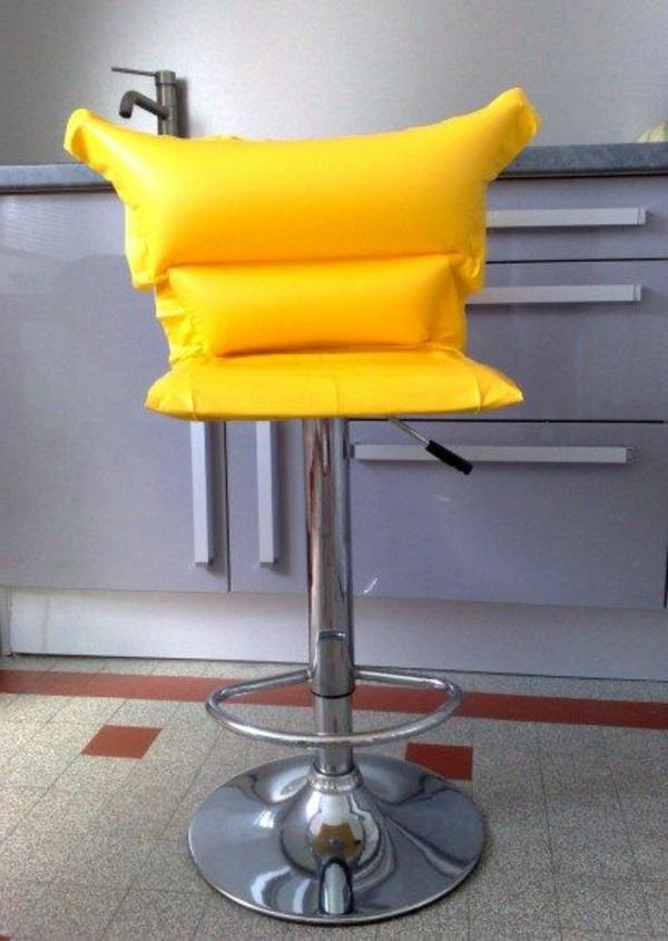 chaises-hautes-de-bar-jaune