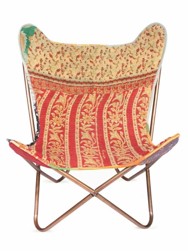 chaises-papillon-colorées-modernes