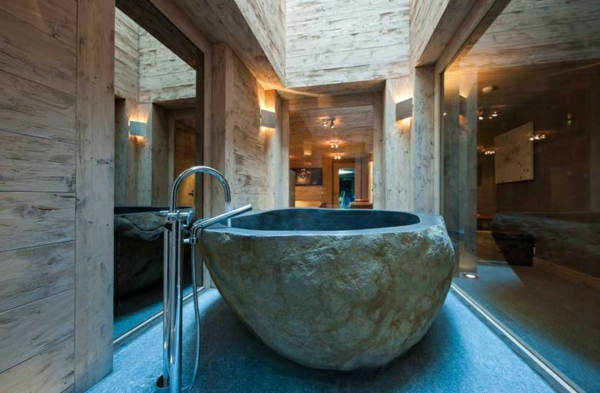 chalet-suisse-baignoire-de-pierre