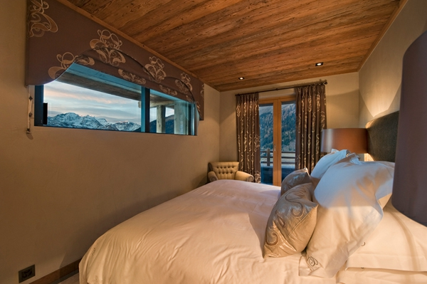 Le confort et la beaut du chalet suisse en photos for Chambre a coucher conforama suisse
