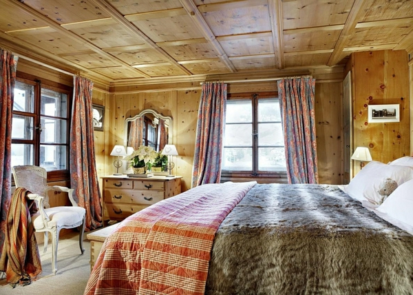 chalet-suisse-chalet-traditionnel-chambre-à-coucher