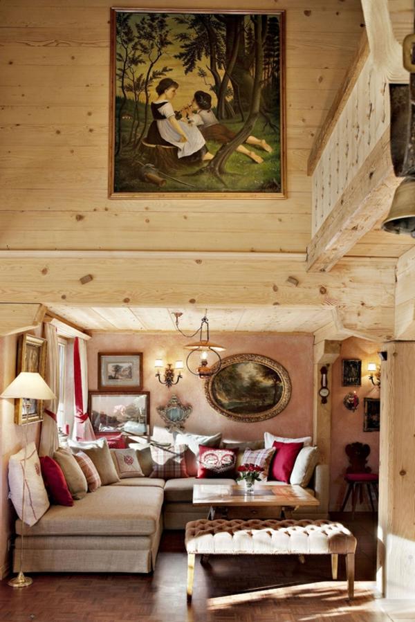 chalet-suisse-intérieur-de-chalet-traditionnel