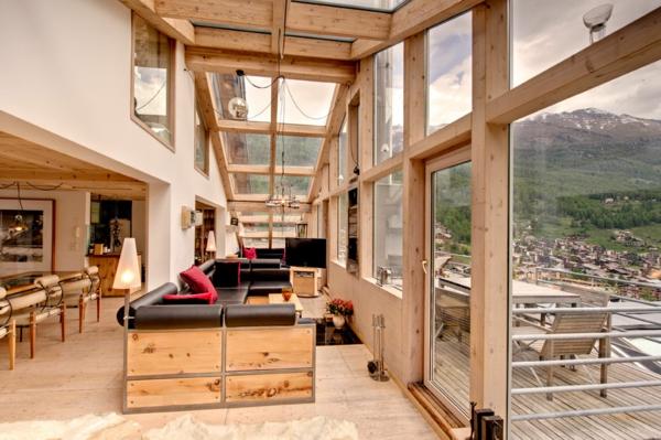 Le confort et la beauté du chalet suisse en photos - Archzine.fr