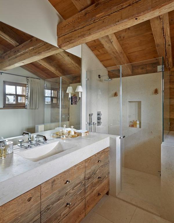 Salle de bain style chalet ~ Solutions pour la décoration ...