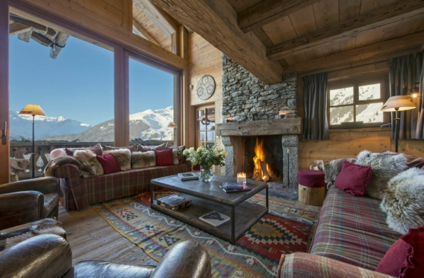 chalet-suisse-salle-de-séjour-rustique