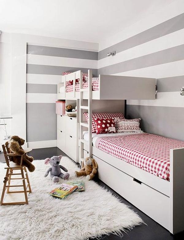 chambre-bébé-enfant-gris-blanc-rouge