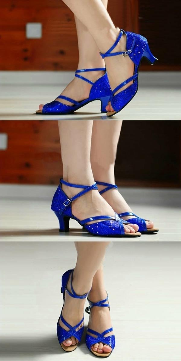 chaussures-de-salsa-bleues