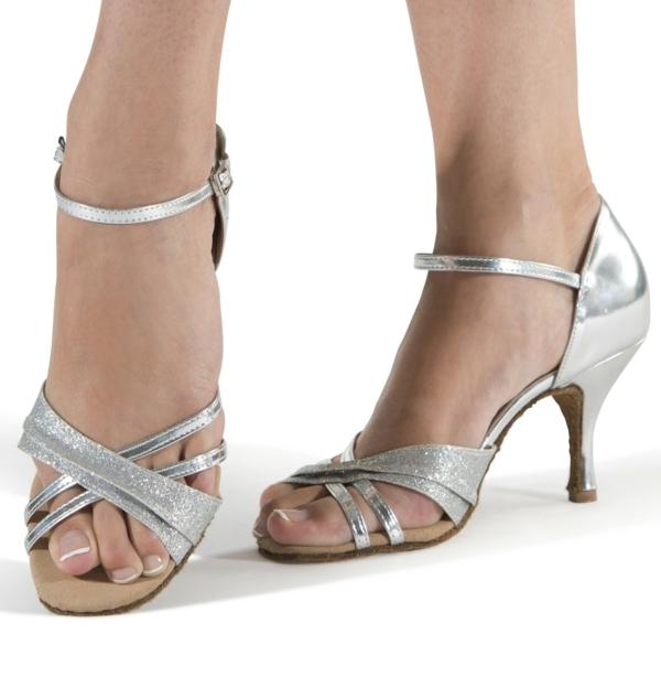 chaussures-de-salsa-grises-argentées