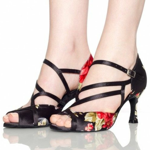 chaussures-de-salsa-motif-floral