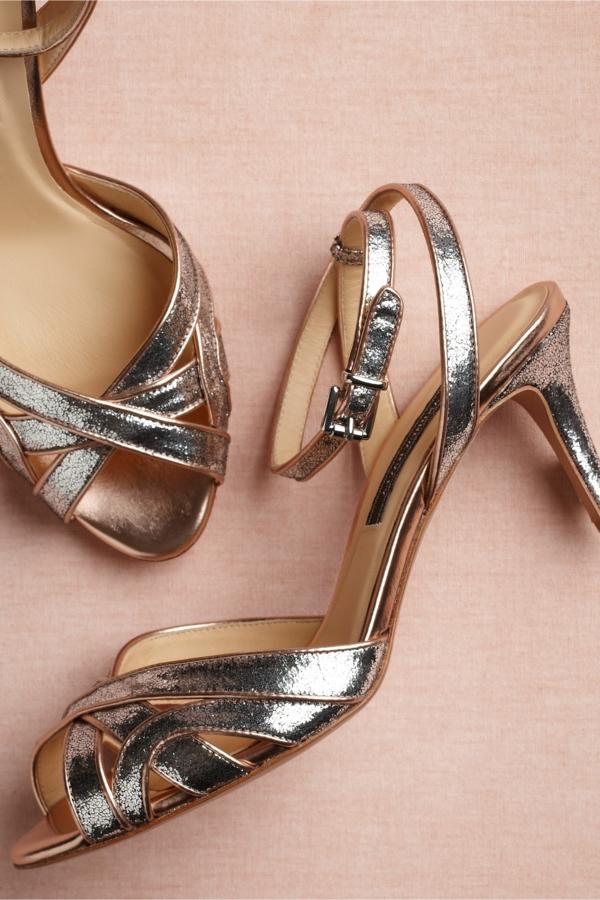 chaussures-de-salsa-roses-dorées