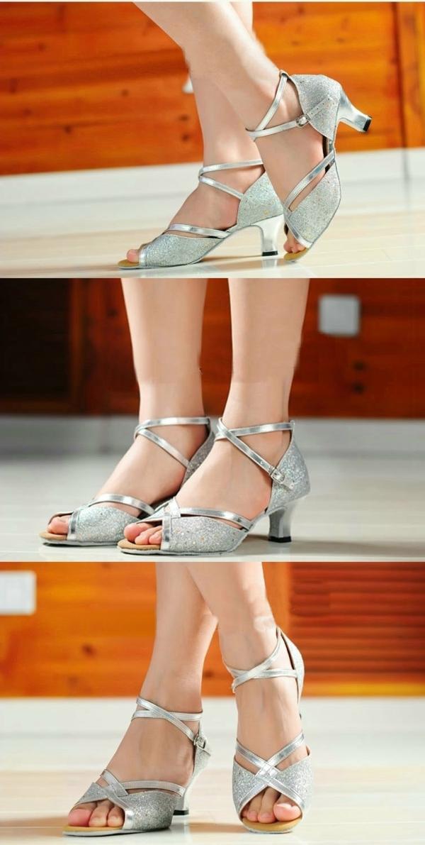 chaussures-de-salsa-sandales-grises