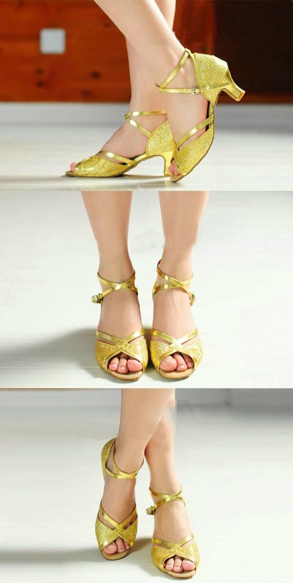 chaussures-de-salsa-sandales-jaunes