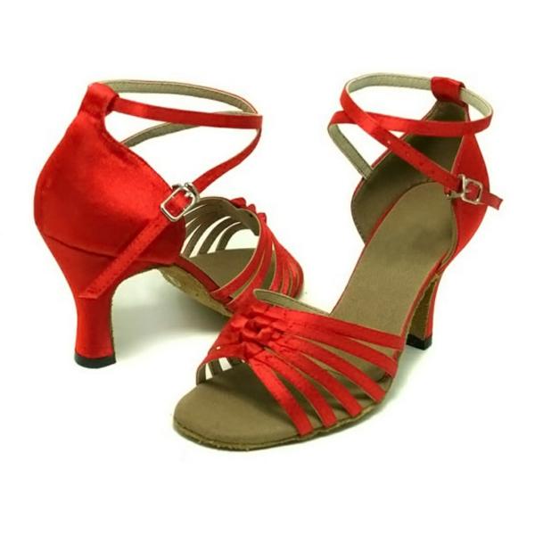 chaussures-de-salsa-sandales-rouges-magnifiques