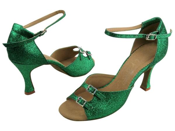 chaussures-de-salsa-vertes-originales