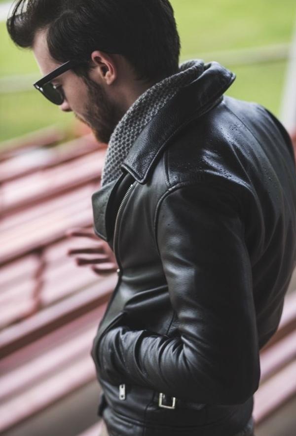 coiffure-homme-veste-en-cuir-cool