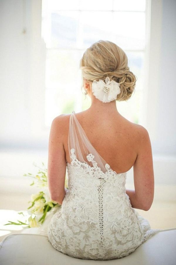 50 idées pour votre coiffure mariage cheveux mi-longs - Archzine.fr