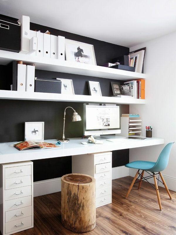 coin-de-travail-chaise-bureau-blanc-fauteuil-bleu
