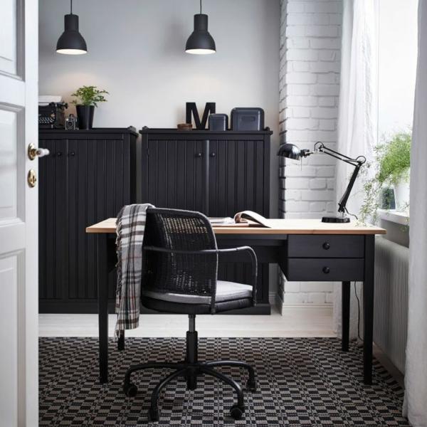 coin-de-travail-chaise-de-bureau-noir
