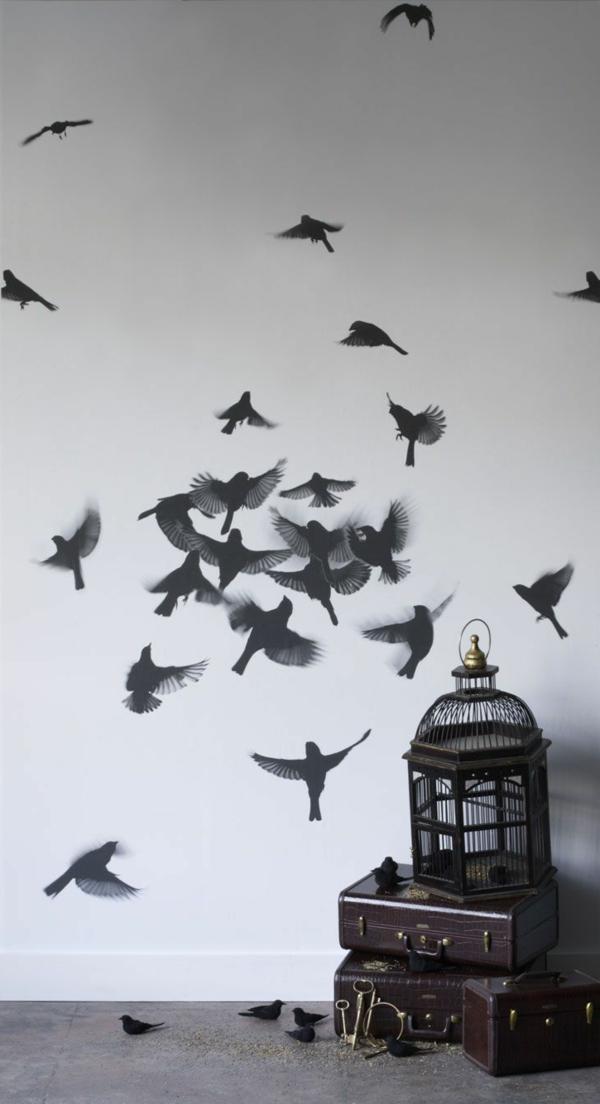 colleuse-papier-peint-diy-déco-de-mur-les-oiseaux-et-la-cage