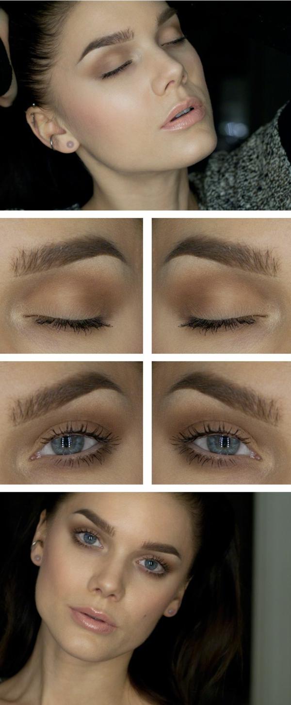 comment maquiller les yeux bleus