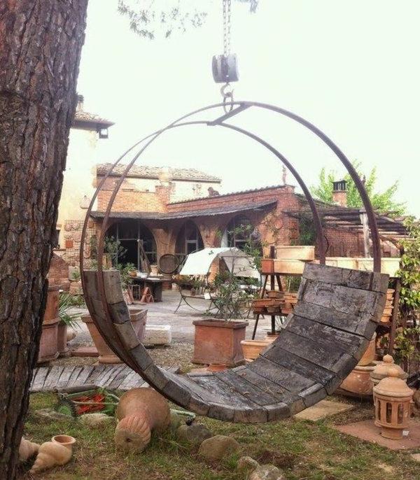 Balan oire pour le jardin ou l terasse 65 id es cr atives for Balancoire de jardin en bois