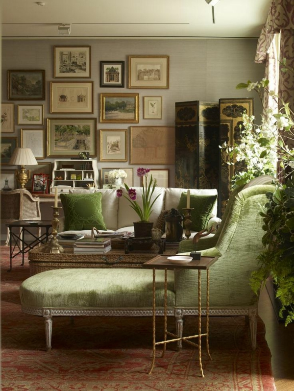 coussin-vert-intérieur-vintage