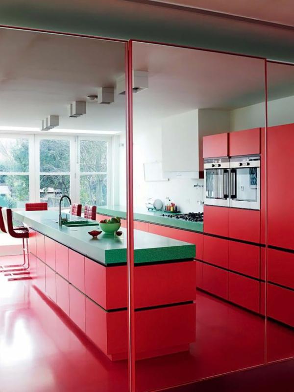 cuisine-rouge-meuble-rouge