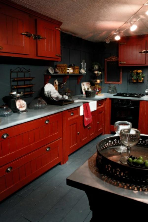 cuisine-rouge-moderne-confortable