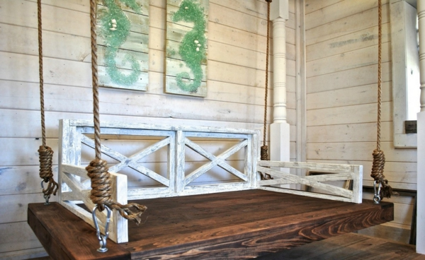 cute-green-sea-horse-wall-decor-feat-traditional-wooden-outdoor-hanging-swing-rope