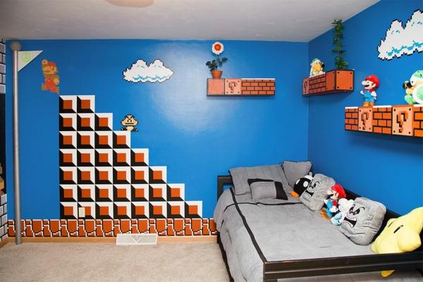 déco-papier-peint-chambre-enfant-mario-bros-sur-le-mur-super-mario