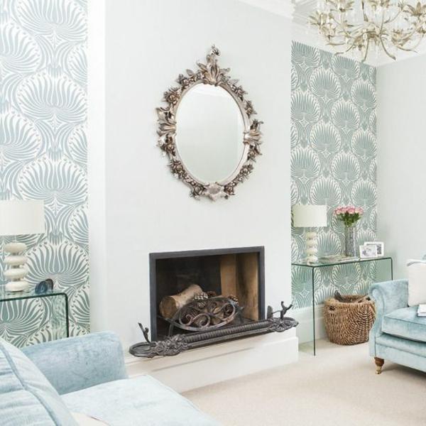 décoration-murale-originale-salle-de-séjour-luxe