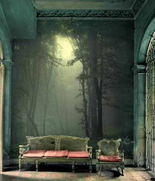 dans-le-foret-peindre-sur-du-papier-sur-les-murs