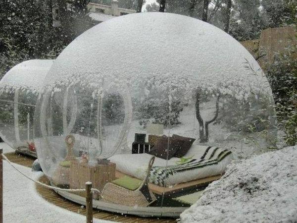 dormir dans une bulle o on peut le faire. Black Bedroom Furniture Sets. Home Design Ideas