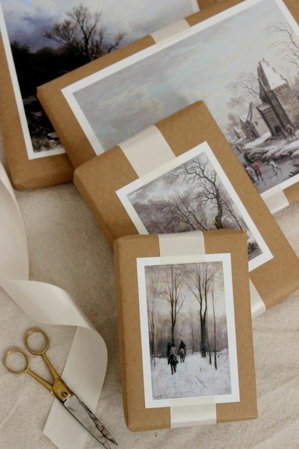 emballage-cadeau-original-et-beau-photos-et-papier-kraft