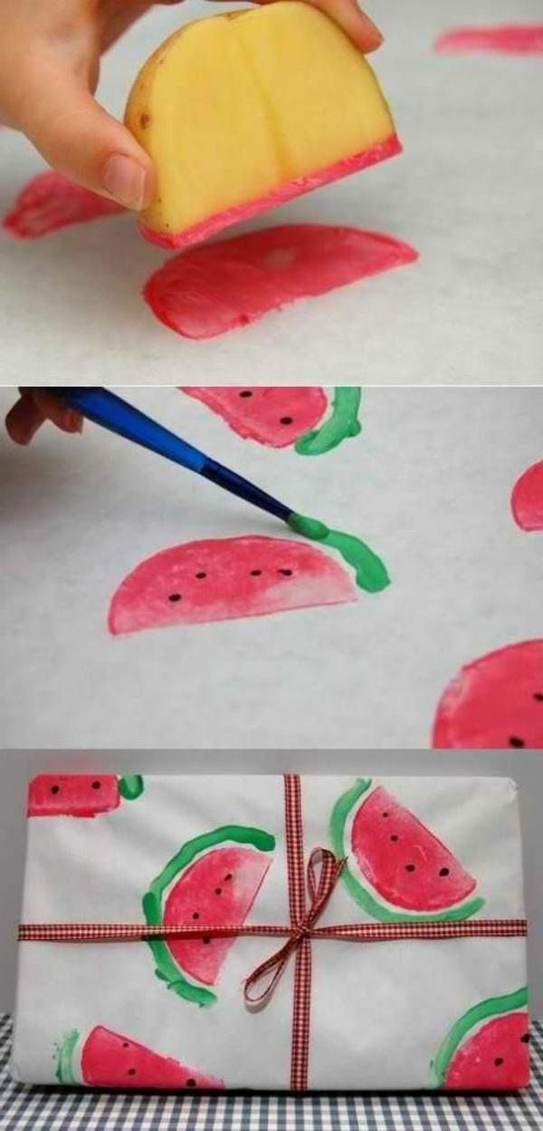 emballage -cadeaux-chic-et-original-pasteque-melon-d-eau